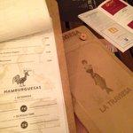 Original carta restaurante. C_fortea
