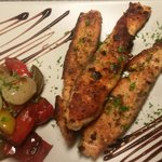 salmon whit Peppers and onion
