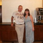 me and wife in reception