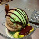 Avocadocano ice cream