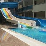 My boy loving the slides. Lovely holiday