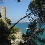 Torre valentina et chemin pietonnier
