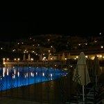 Upstairs pool at night