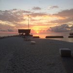 sunrise waiting for the seaplane