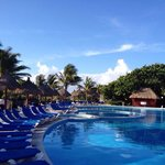 The pool in the morning at Grand Bahia Tulum.