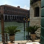 The hotel's entrance from the Grand Canal