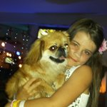 my other daughter with the other jive bar dog