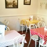 Cafe seating - Minster Fish Bar Howden (June 2014)