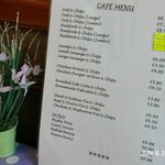 Restaurant/Cafe Menu - Minster Fish Bar Howden (June 2014)