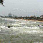 Dashing waves of sea