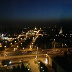 Вид на ВДНХ ночью