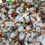 Beach made of glass