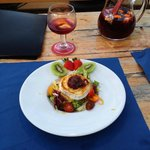 goats cheese with onion marmelade