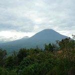 vista para o vulcão