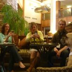Lounging in the Lobby Bar area with other visitors....or are they PUParazzi?