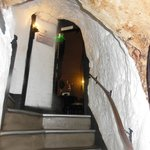 Stairwell built into cave