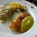 Coconut-crusted tilapia