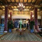 elegant hotel lobby.