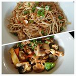 Chicken chow mein and pork chop suey