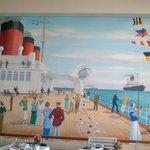 simpatico mural del comedor