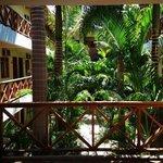 Parte interna do Hotel. Quartos voltados para Jardim a céu aberto.