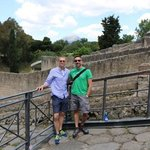 at the entrance to Pompeii