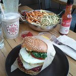 Awesome veggie burger and milkshakes!
