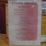 Dinner specials