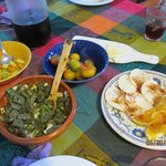 Nopal (prickly pear) cactus and other appetizers!