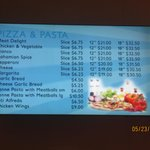 Marina Pizza Menu