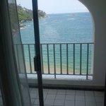 Foto desde la habitación con vista al mar