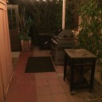 Shared bbq grills and smoking area