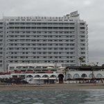View of hotel from the sea.
