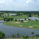 Vue du 10e étage donnant sur le terrain de golf