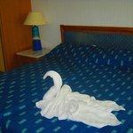 удобная кровать.