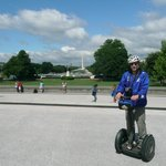 Bruce J on a Segway near the White House