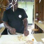 Derek making his famous conch salad