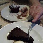 Chocolate dessert. I love it yummy