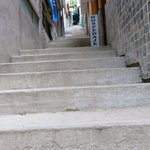 Stairs to go up to Rupa Wasi