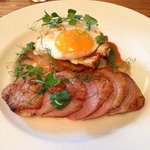 Roast duck, bubble and squeak and duck egg YUM