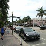 Atlabtic Avenue outside the hotel