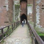 running across the drawbridge