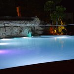 Smaller pool area at night