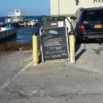 Today's menu at Morgans Harbour