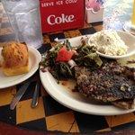 Pork chops greens and slaw