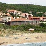 Vista dalla spiaggia di Portu Maga