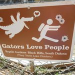 Sign at the Alligator Show