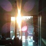 Sunrise in studio back room