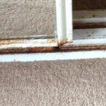 Rusty closet frame