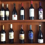 Wines on offer at the Hotel Montane's restaurant